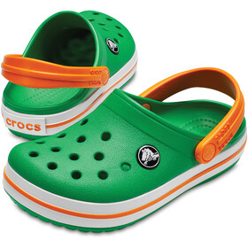 Crocs Crocband Clogs Kinder grass green/white/blazing orange
